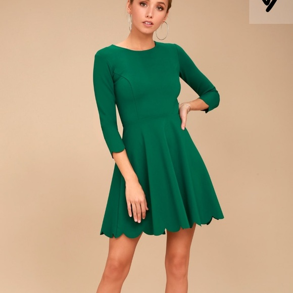 a4109733305e Lulu s Dresses   Skirts - Dark green long sleeve skater dress